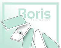 White iPhone Mockups Fall by Boris Free Mockup