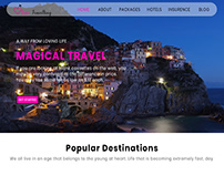Love Travelling Web Layout