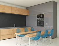 Modern Wood Kitchen | CGI