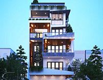 Mẫu thiết kế nhà phố chiều rộng 7m 5 tầng tại Đà Nẵng