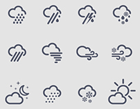 Weather Icons for Compass54 iPhone App