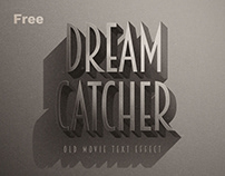 Free Noir Retro Photoshop Text Effects