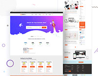Domain Hosting and multipurpose Template Free PSD