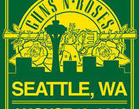Guns N' Roses - Seattle Event Poster
