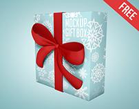 Gift Box – 3 Free PSD Mockups