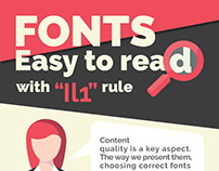 Infographic - Fonts, Easy to read