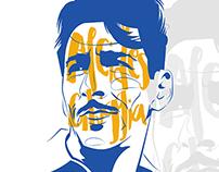 Alcides Ghiggia illustration portrait