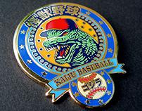 Kaiju Baseball cloisonné enamel pin
