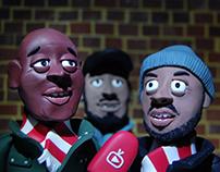 Arsenal Fan TV | Clay illustration