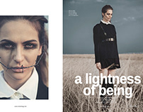 A LIGHTNESS OF BEING for Cliché Magazine