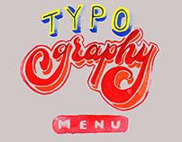 Typography Menu