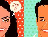 WEDDING INVITATION CARD. SEVILLA - COSTA RICA FUSION