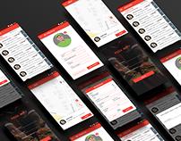 Restaurant Delivery Boy App UI Design Mockup