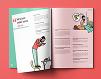 Magazine Interview Layout Design - Swiss Style