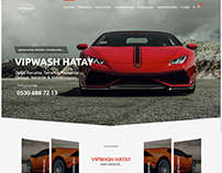 VipWash Car Wash Web Design Web Tasarım