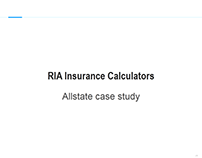Rich Internet Applications Insurance Calculators