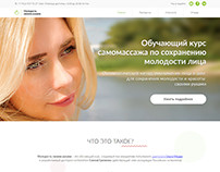 Design and layout Landing page Massage course
