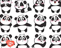 Panda emoji pack