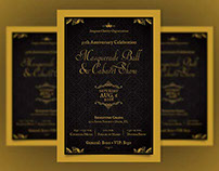 Anniversary Ball Flyer Template