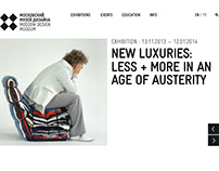Moscow Design Museum Responsive Website