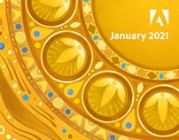 A year of virtual backgrounds for video calls: January