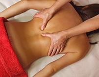 Spa treatment. Back massage