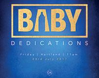 Baby Dedication Graphics for Social Media