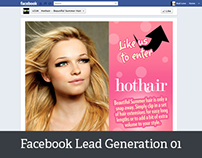 Hot Hair facebook lead generation app