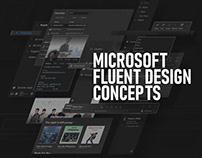Microsoft Fluent Design Concepts
