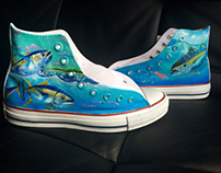Hand painted fishing chucks