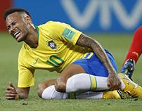 De Belgen rollen Neymar op