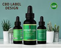 cbd label design