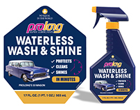 Waterless Wash & Shine label