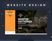Hunter Gatherer Tour Website Design