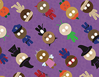 Trick or Treat Halloween Pattern