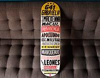 Lettering en Skateboards