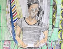 portraits from recent exhibition / портреты с вставки