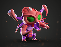 Cartoon Cho'Gath 3D model & animation