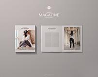 Free PSD Brand Magazine Mockup