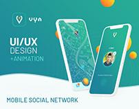 Vya - Mobile Social Network UI/UX Design