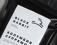 Black Rabbit Coffee Roasters logo and package
