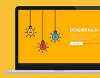 Website for Graphic Designer Flat UI Design
