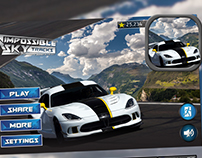 SKY Driving Game HUD