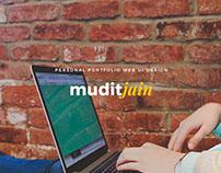 Personal Portfolio Web UI Design - muditjain