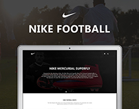 Nike Football Website Design
