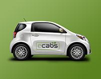 e-Cabs Logo Design