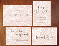 TROPIC ORCHID WEDDING INVITATION SUITE