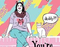 Skiddy Birthday card