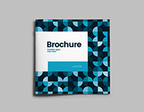 Square Blue Circles Brochure