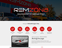 Car repair web-site. Main page